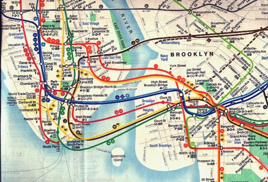 Nyc Subway Map History.A Bit Of Map Design History The Early Kerner
